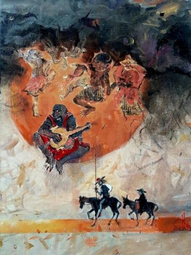 Don Kişot 1- 244x32 tuval